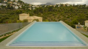 Pool and terrace in Orba